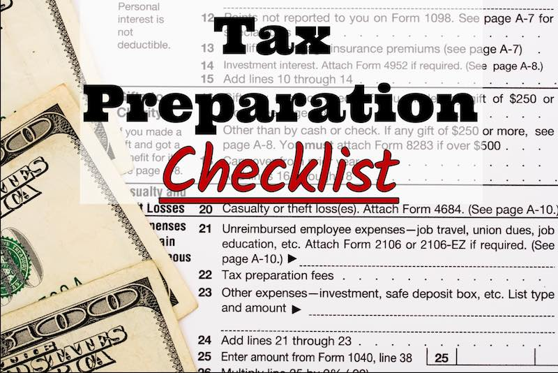 Trent Accounting's 2017 Tax Preparation Checklist